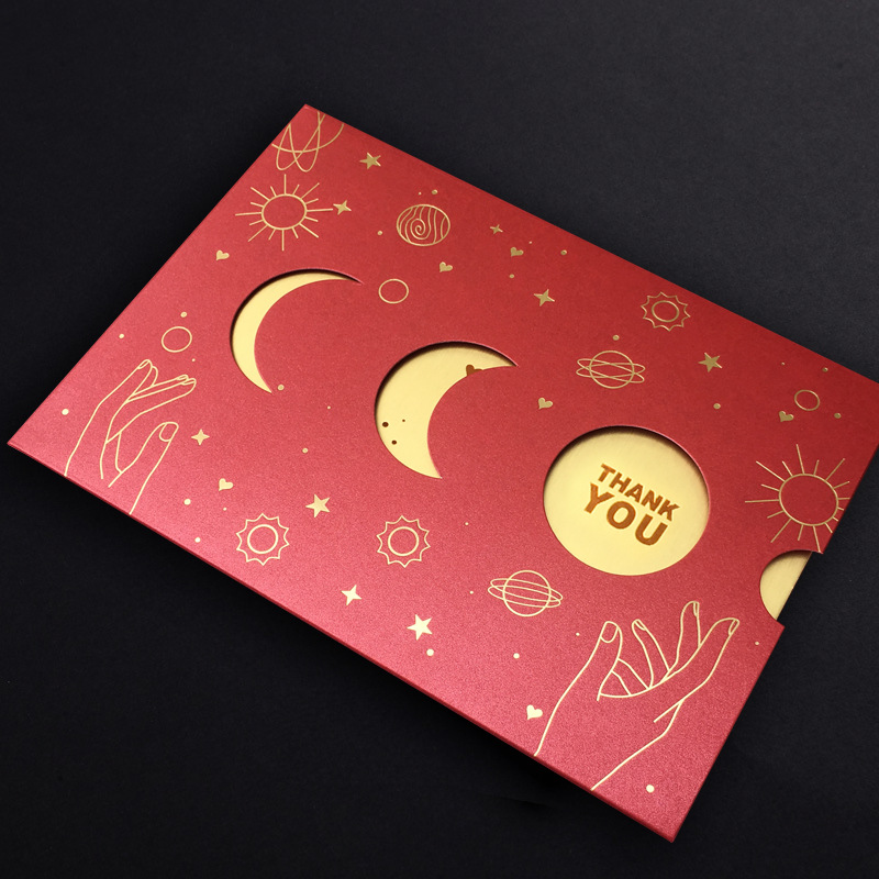 MID-AUTUMN FESTIVAL THANKS CARD RED