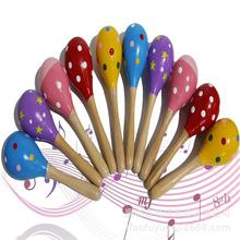 奥尔夫儿童打击乐器 亲子早教玩具教具幼儿园卡通沙锤 木制沙锤