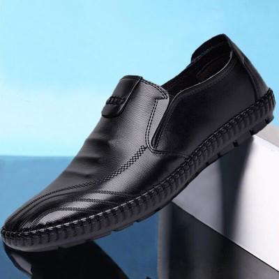 货源2020春季男鞋新款pu皮鞋软面皮豆豆鞋英伦一脚蹬懒人鞋商务单鞋子批发