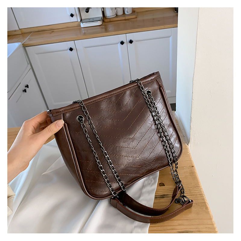 Retro Bags New Fashionable Women Bags Large Capacity Shoulder Messenger Chain Bags NHXC190477