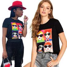 HM6110  速卖通亚马逊欧美外贸热销爆款夏季卡通短袖圆领T恤