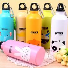 兒童動物運動水壺 卡通鋁制禮品隨手杯 大容量便攜防漏水壺批發