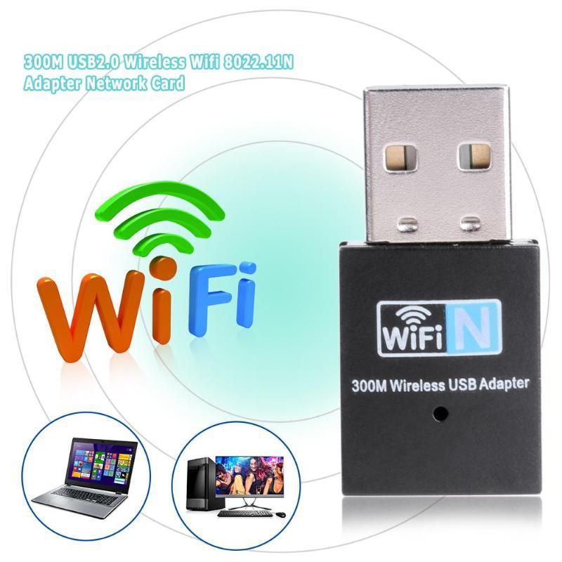 بطاقة الشبكة اللاسلكية المصغرة USB 300M محول استقبال واي فاي صغير RTL8192