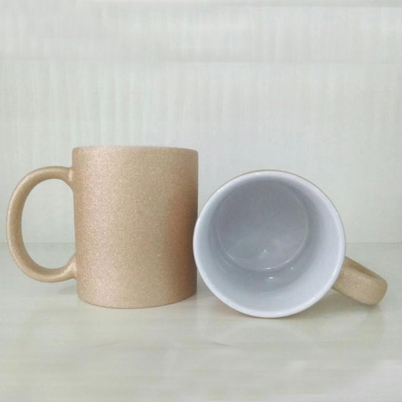 厂家定制珠光热转印杯 低温logo图案生产加工 广告促销咖啡杯碟