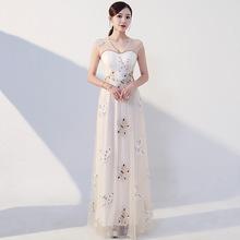 夜店晚礼服女装新款性感气质显瘦透视装长裙低胸蕾丝夜场连衣裙子