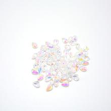 新款日系美甲钻 手工diy饰品尖底指甲贴 树脂仿锆石指甲贴钻石