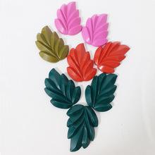 廠家直銷兒童安全3D葉子造型彩色蠟筆涂鴉套裝畫筆環保安全無毒