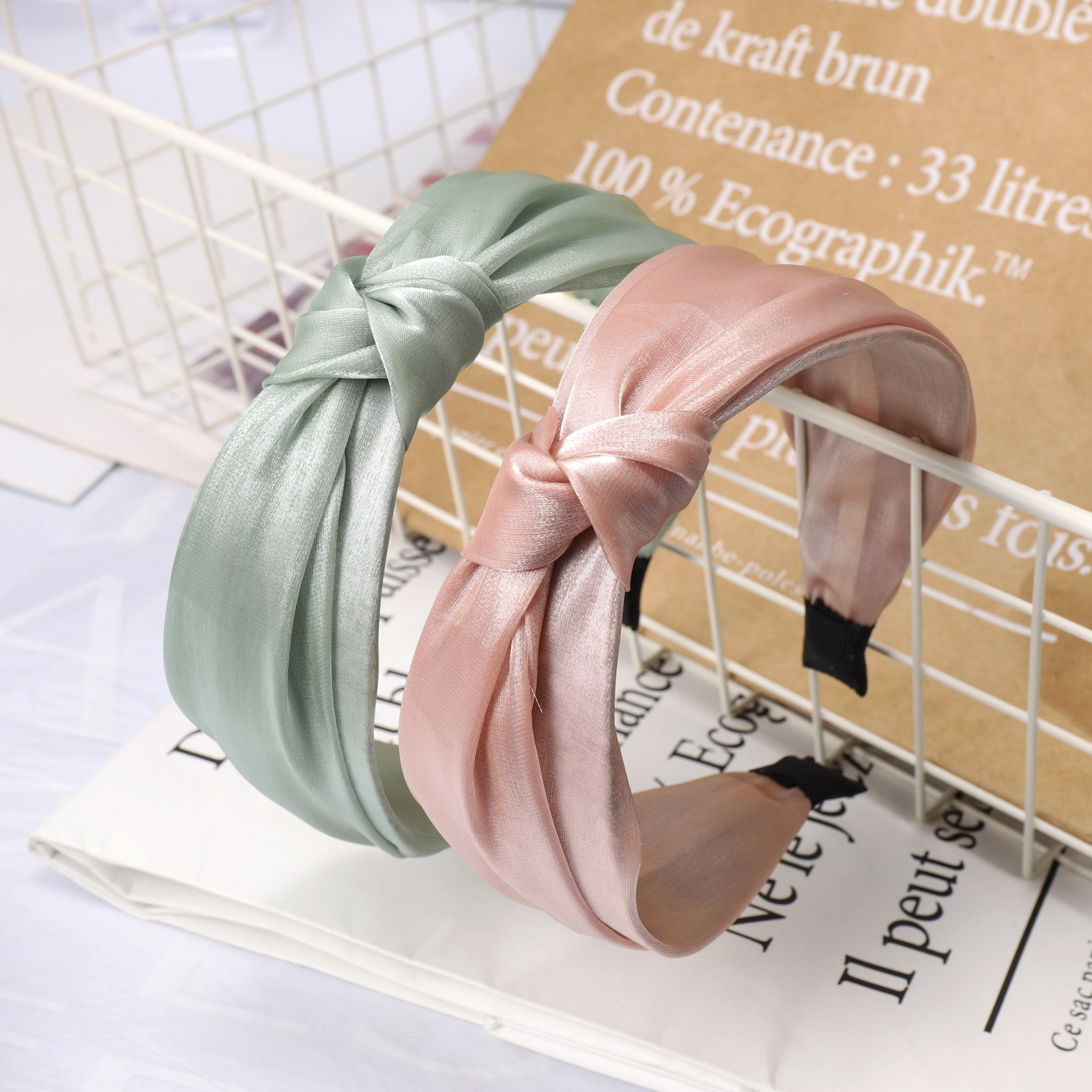 New Korean net yarn hair hoop multilayer Korean knotted headband hair accessories headdress women NHDM190158