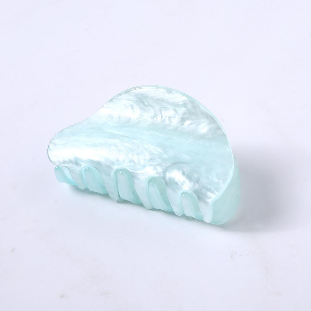 Korean new fashion plate hair clip acrylic acetate cheap grab clip wholesale NHDM208159