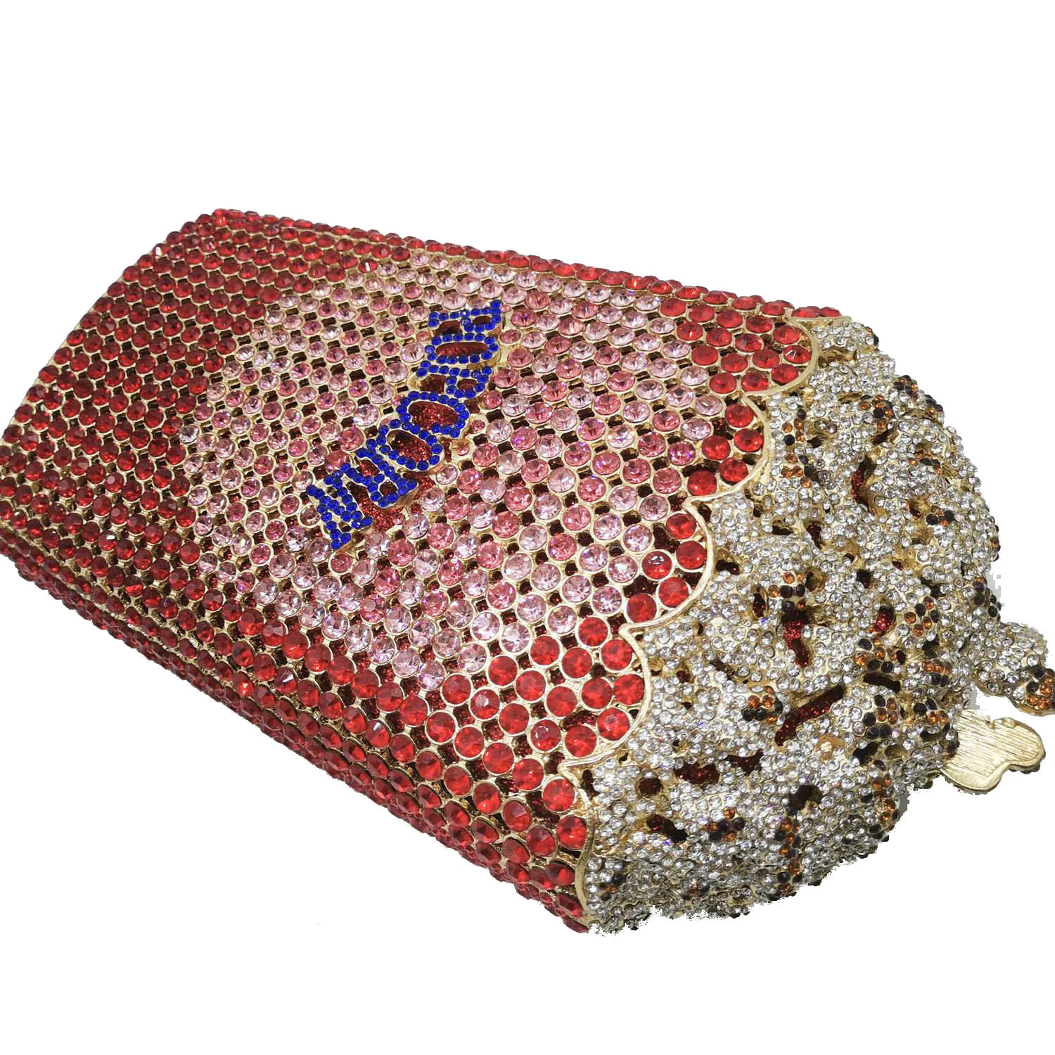 Fashion women's bag new dinner bag popcorn party bag rhinestone clutch bag wholesale NHJU200506