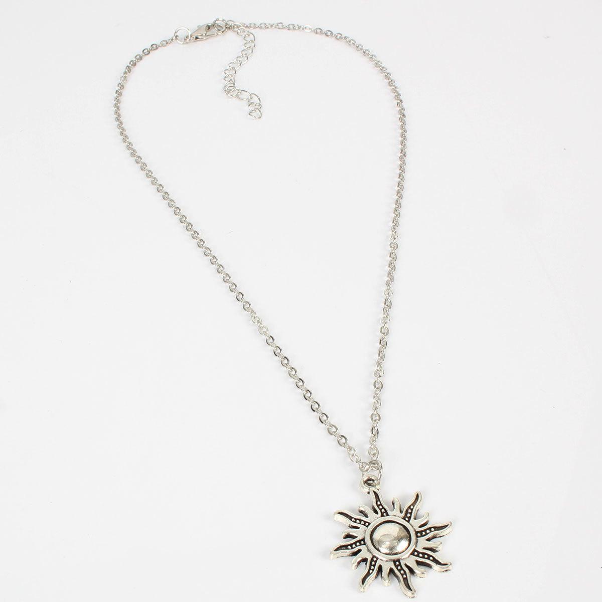 Simple sun flower pendant fashion popular necklace women NHCT181580
