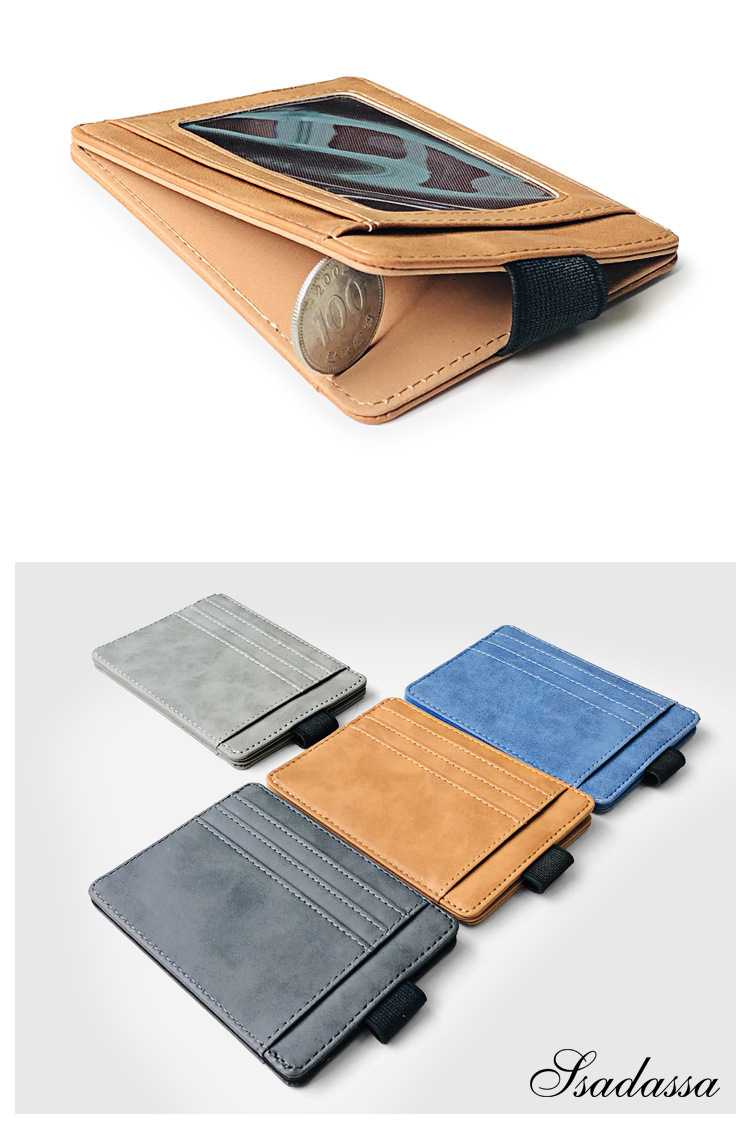 Korean fashion elastic band card package creative wallet men's driving license card holder card holder PU coin purse discount hot sale wholesale nihaojewelry NHBN222082