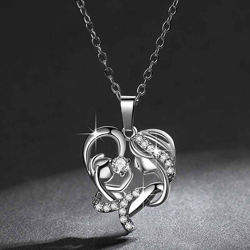New fashion microset pendant necklace female mothers day heart necklace wholesale NHKN208017