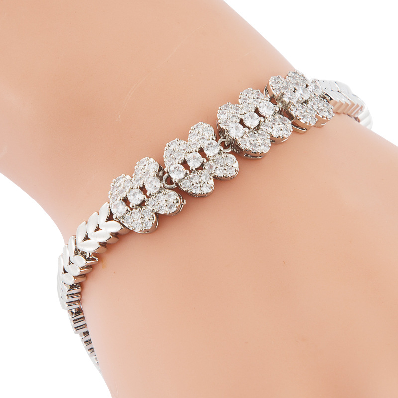 Woman Fashion Bracelet with White Cubic Zirconia NHLN186936