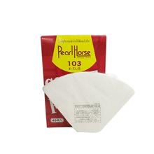 103咖啡滤纸扇形 美式滴滤咖啡壶过滤纸 4-7人份 咖啡粉滤纸批发