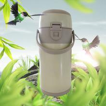厂家直销2.0咖啡真空保温壶定制不锈钢气压保温壶可印LOGO