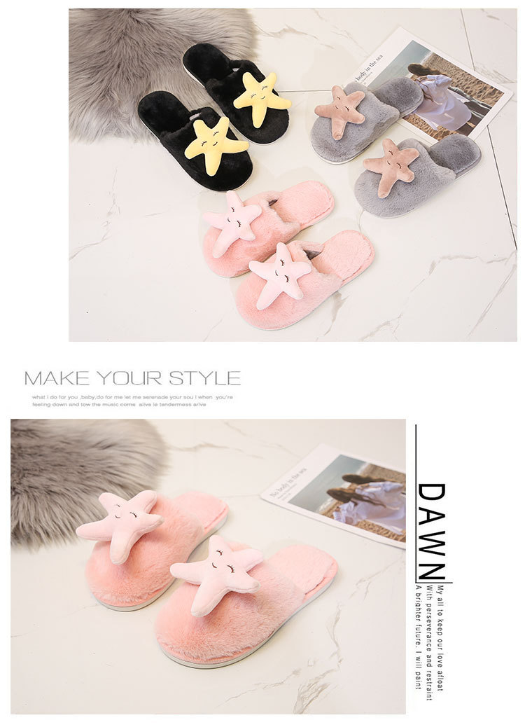 indoor plush cotton slippers NSPE10026