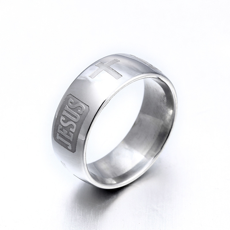 Titanium&Stainless Steel Fashion  Ring  (Steel color-7)  Fine Jewelry NHIM1742-Steel-color-7