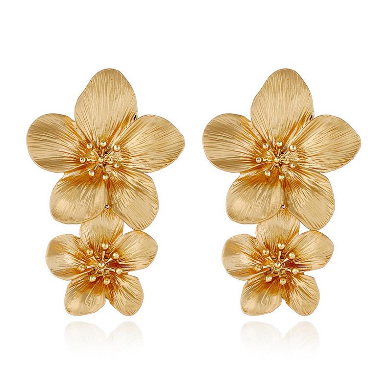Alloy Fashion Flowers earring  (yellow)  Fashion Jewelry NHVA5406-yellow