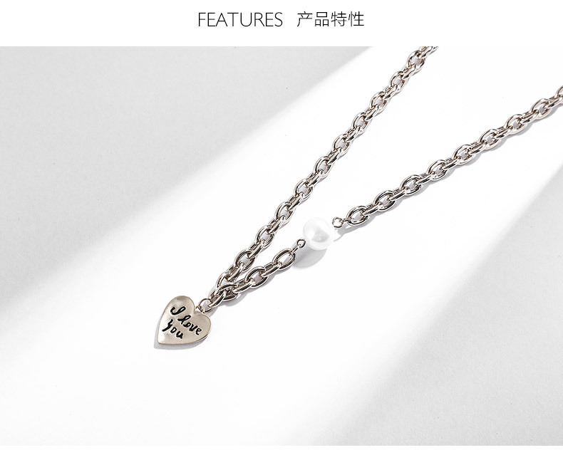Fashion Love Beads Alloy Necklace NHLL147025