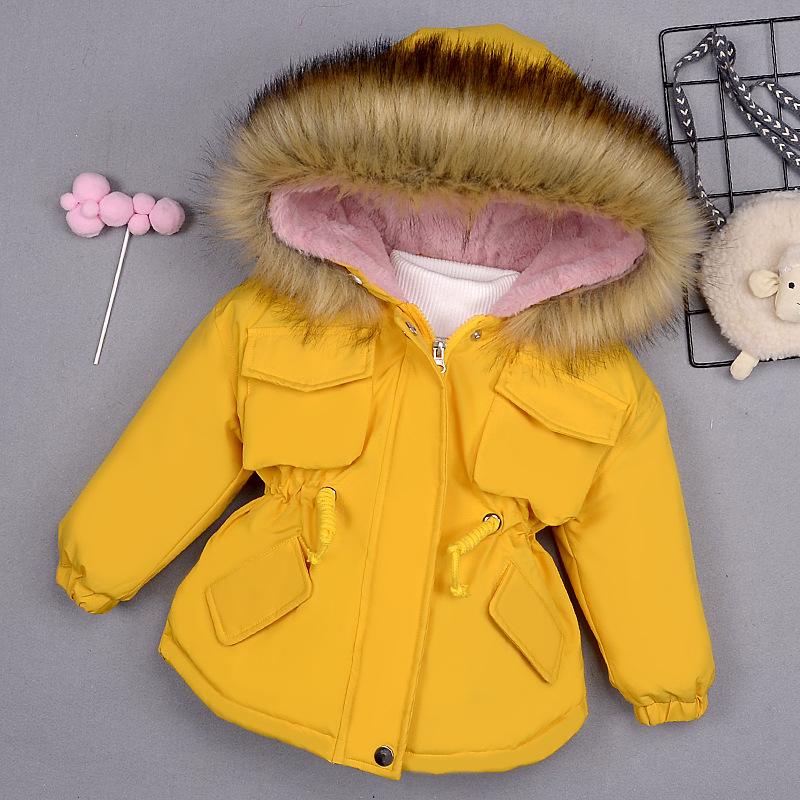 儿童冬装女童棉袄中小童装棉服韩版洋气宝宝加厚棉衣冬女婴童外套
