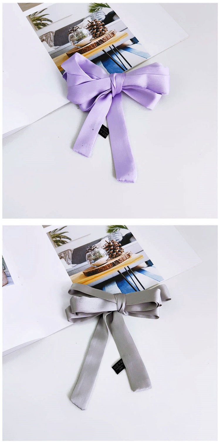 Wild thin strips of solid color small scarves NHMN138600