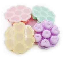 廠家推薦心形硅膠輔食盒鉑金硅膠輔食格嬰兒冷藏保鮮制冰格