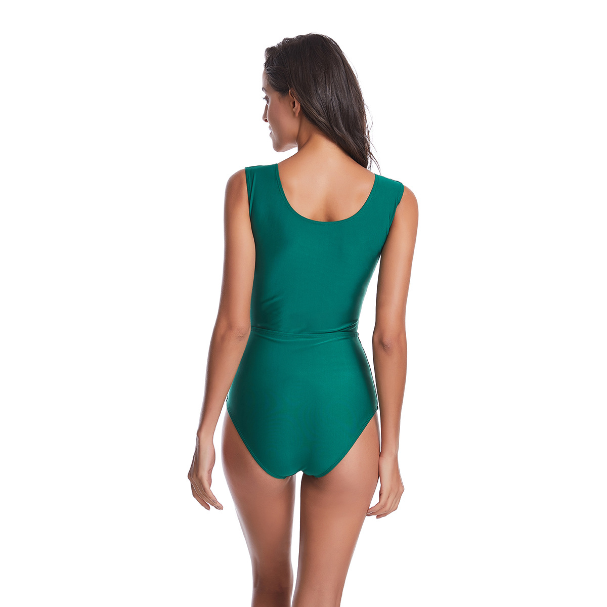 New sexy one-piece solid color swimsuit bikini wholesale NHHL204910