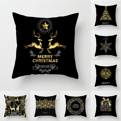 18'' Cushion Cover Pillow Case Christmas series pillow cover office car cushion cover customization