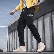 2019秋冬季新款休闲裤男束脚收口休闲裤日系宽松灯芯绒男士休闲裤