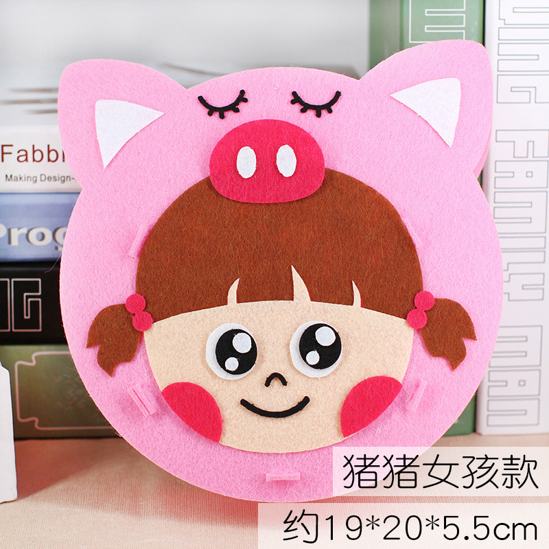 Non-woven Lantern (pig Girl) Without Light Pole