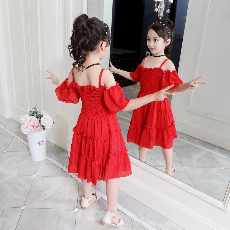 女童连衣裙2021新款夏装超洋气童装小女孩抖音网红裙儿童公主裙潮