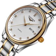 冠琴手表男士手表石英表 潮流时尚薄腕表 防水商务手表男表