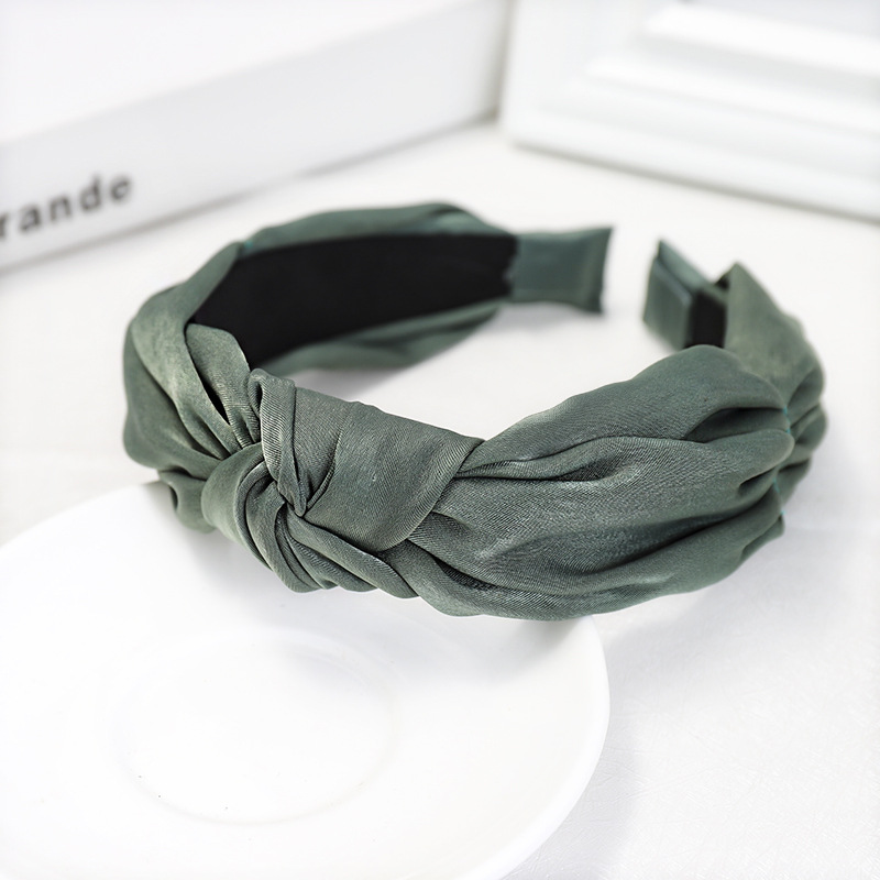 Hair accessories solid color fabric wide-brimmed headband simple wild lady card NHDM173139