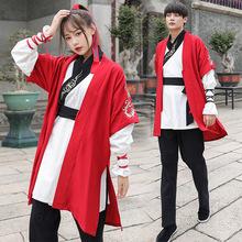 古裝武俠工作服男士女漢服中國風夏裝半臂短打上衣褲子團體服套裝