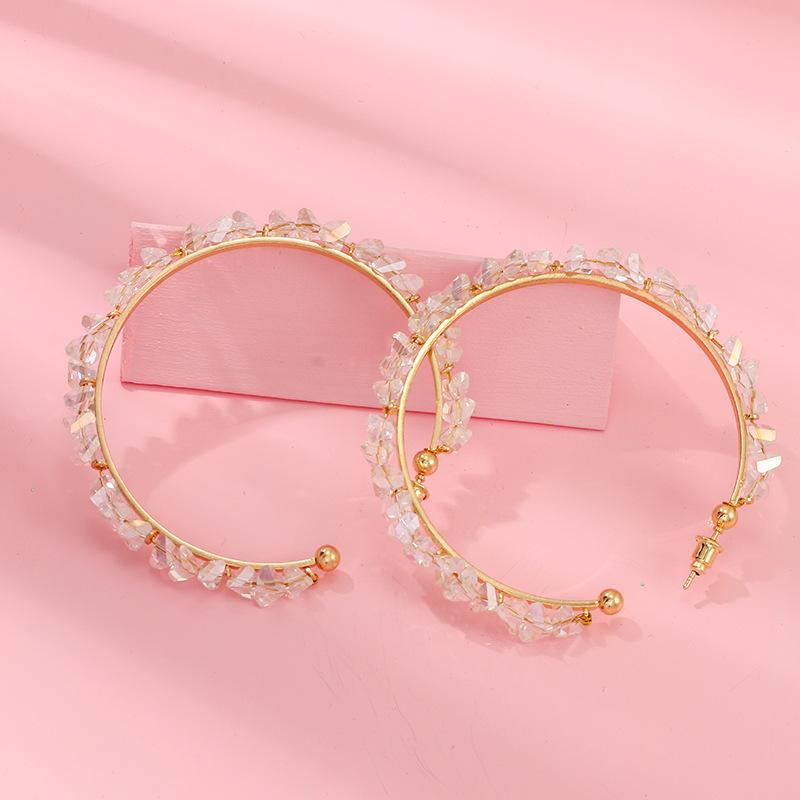 Jewelry Circle Ring Earrings Crystal Ear Earrings Women's NHNZ173377