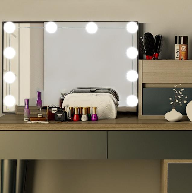新款USB好莱坞镜前灯 梳妆台灯泡串 led美颜化妆灯泡  化妆镜灯泡
