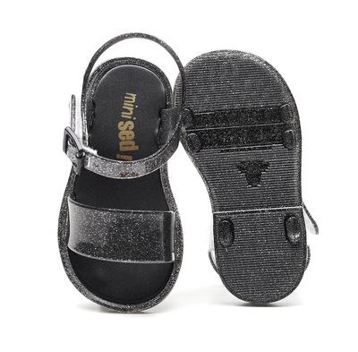 2020新款mini sed塑胶一件代发蝴蝶结防*白雪女童公主儿童凉鞋