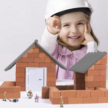 预售MiDeer弥鹿儿童DIY建筑工地玩具 小小泥瓦匠砖瓦砖块建筑玩具
