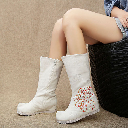 Chinese Hanfu boots for girls women ancient ancient retro princess fairy cosplay kimono dress performance boots