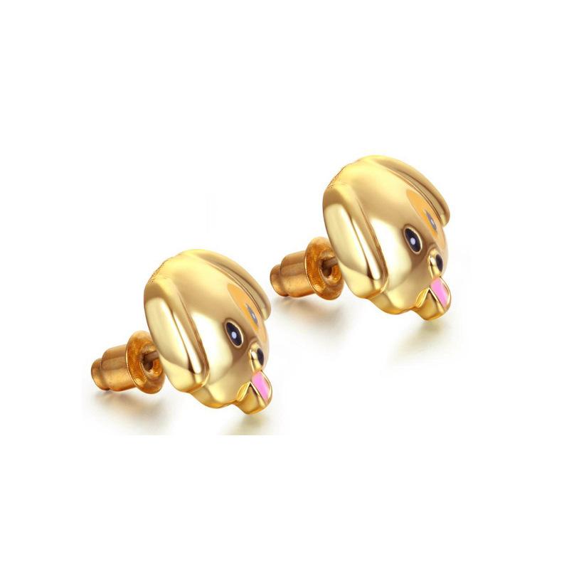 Alloy oil dripping fashion smile emoji dogs ladybugs earrings nihaojewelry NHOA238500