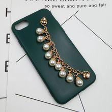 手链手拿diy手机壳饰品配件创意珍珠手链螺丝扣材料包手工制作