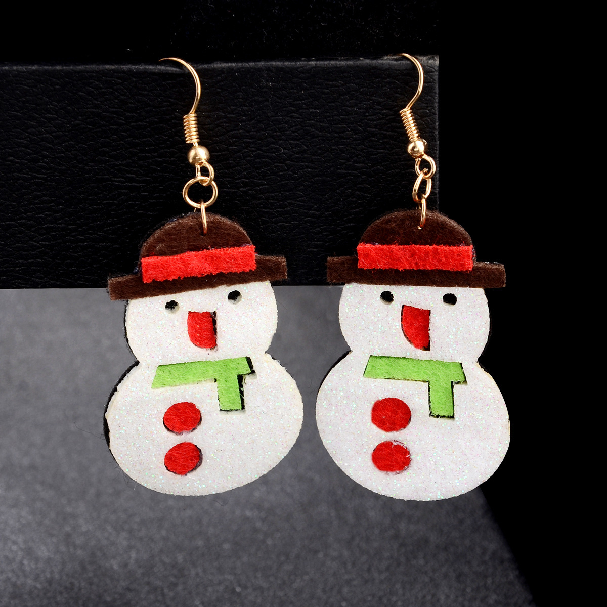 New Christmas Elk Santa Claus Christmas Tree Snowman Gift Earrings NHPV149064