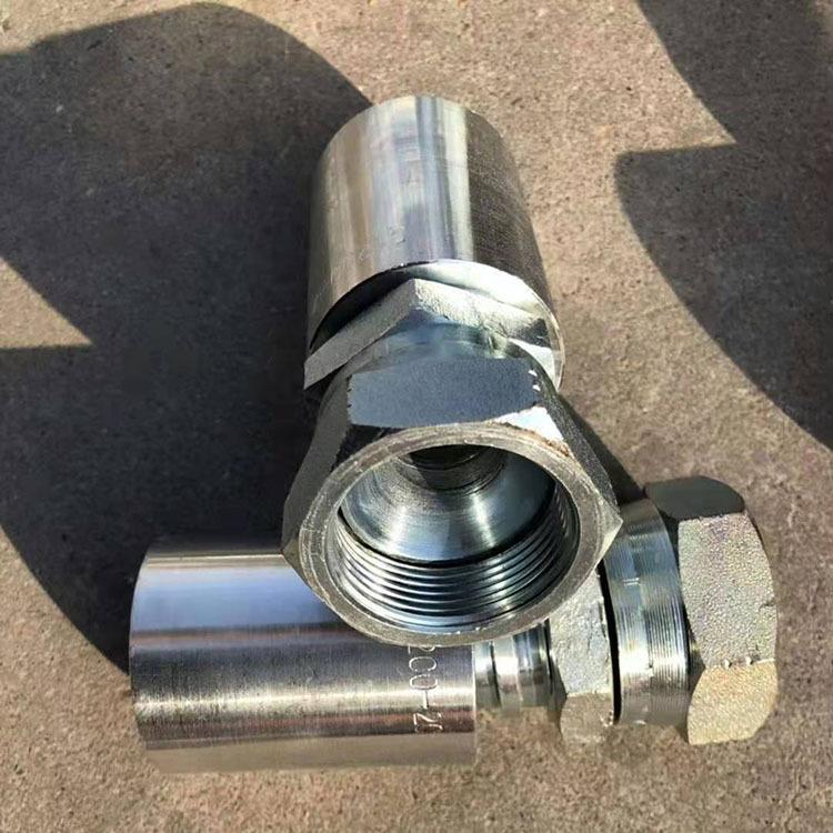 厂家供应扣压式接头液压油管接头高压胶管接头英美接头
