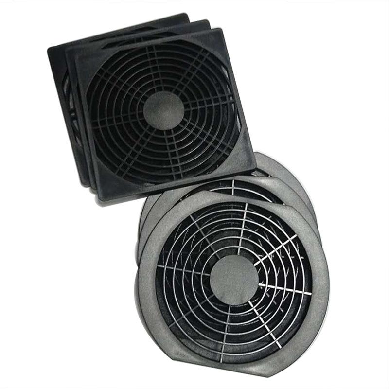 厂家直销80 90 120 150 200风机用黑网三合一网罩防尘防护过滤网