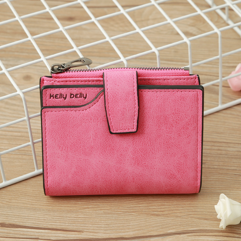 Korean frosted buckle short wallet NHLAN337372