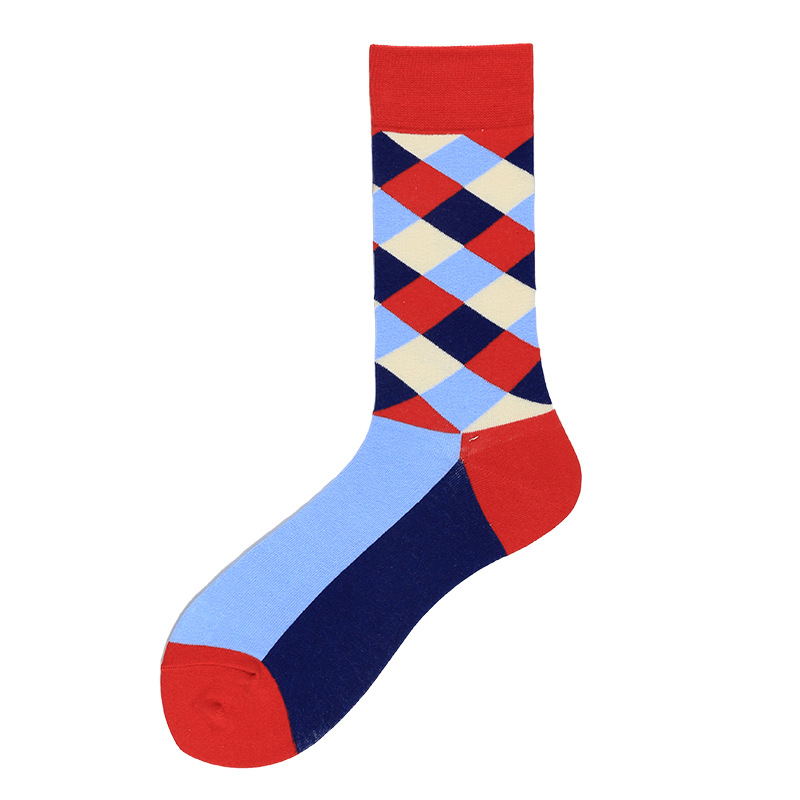 New unisex colored striped ribbed cotton socks NHZG145657
