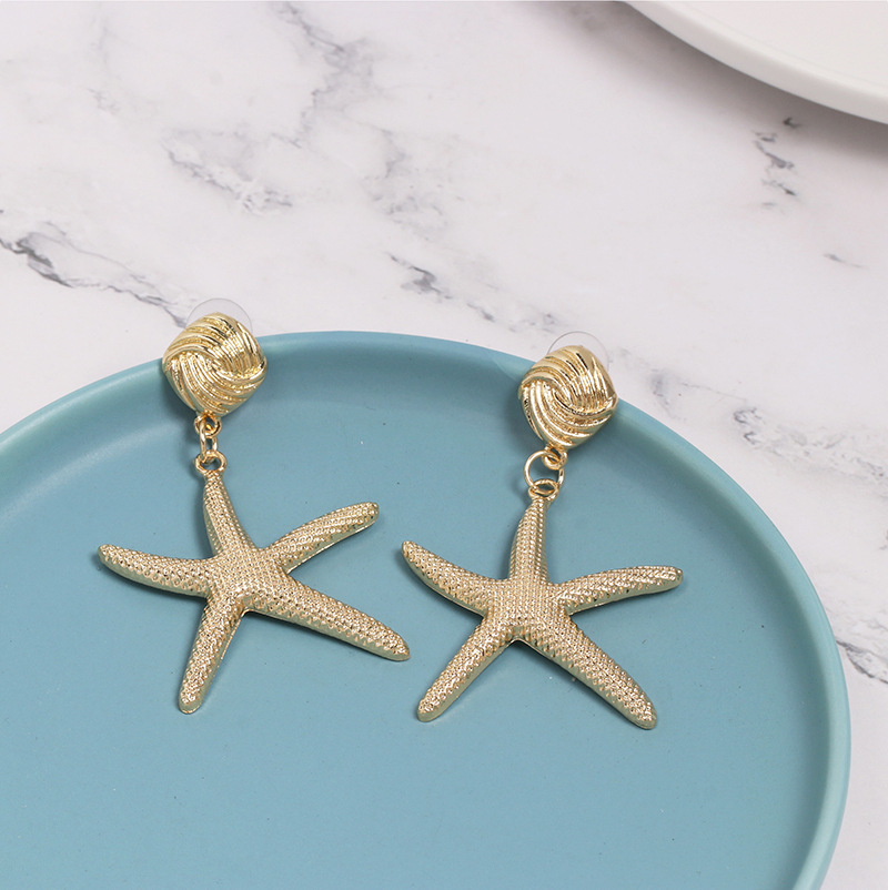 Simple starfish earrings alloy and alloy NHJJ142222