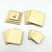 激光切割 方形木片 木质几何图形木板 手工制作木胚 订做各种形状