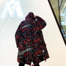 2019男士网红嘻哈风衣外套 中长款风衣 J41